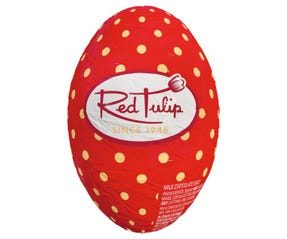 Red Tulip Easter Hollow Egg 50g