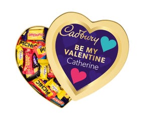Cadbury Favourites Heart Gift Tin - Be My Valentine