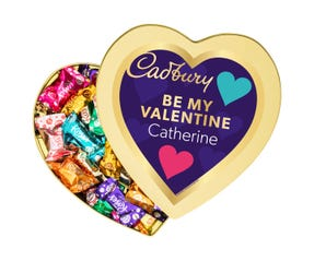 Cadbury Roses Heart Tin - Be My Valentine