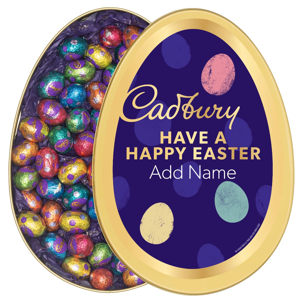 Personalised Cadbury Dairy Milk Easter Eggs Gift Tin
