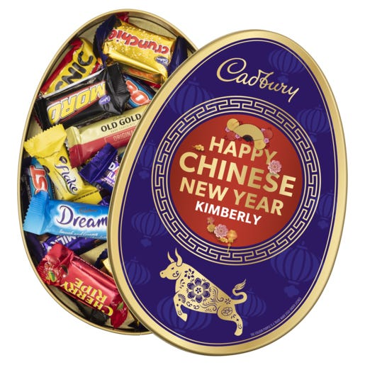 Cadbury Favourites Personalised Gift Tin - Happy Chinese New Year
