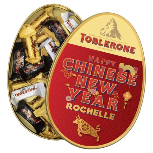 Toblerone Personalised Gift Tin - Happy Chinese New Year