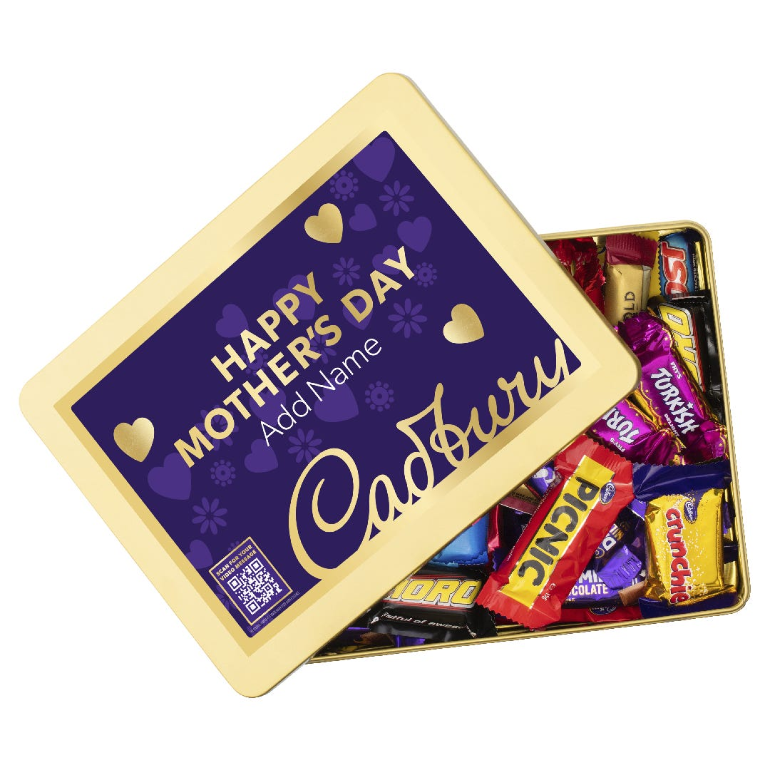 Cadbury Favourites Gift Tin with optional Video Message