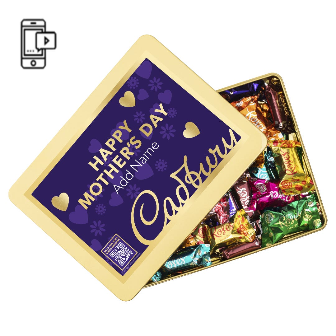 Cadbury Roses Gift Tin with Optional Video Message