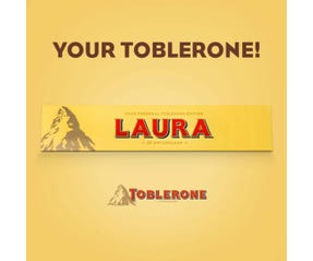 Personalised TOBLERONE Swiss Milk Chocolate Bar 360g
